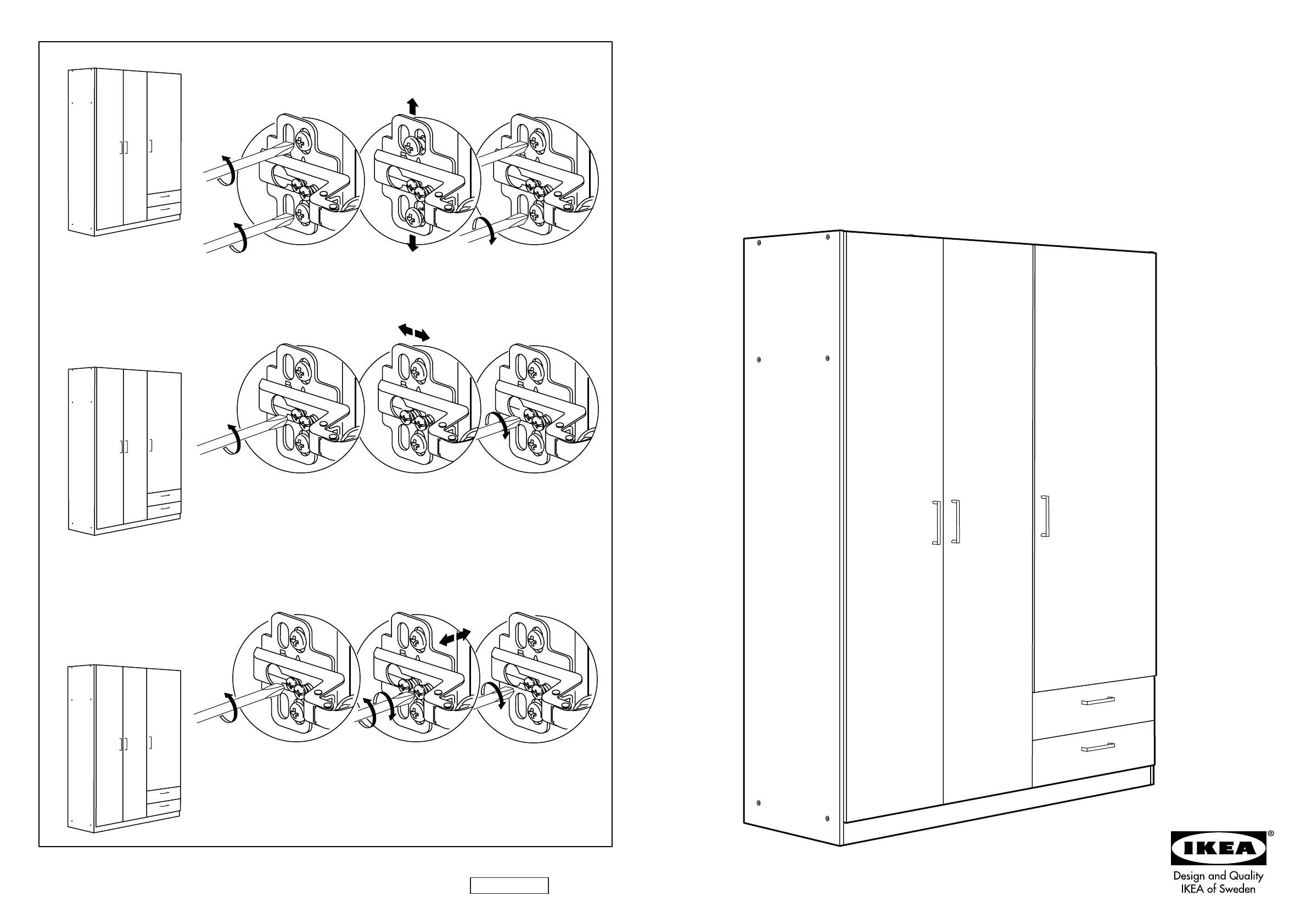 Ikea Kullen Garderobekast.Handleiding Ikea Kullen Garderobekast Pagina 1 Van 10