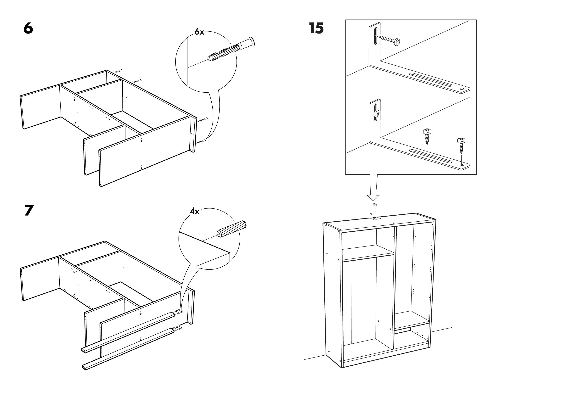 Ikea Kullen Garderobekast.Handleiding Ikea Kullen Garderobekast Pagina 8 Van 10
