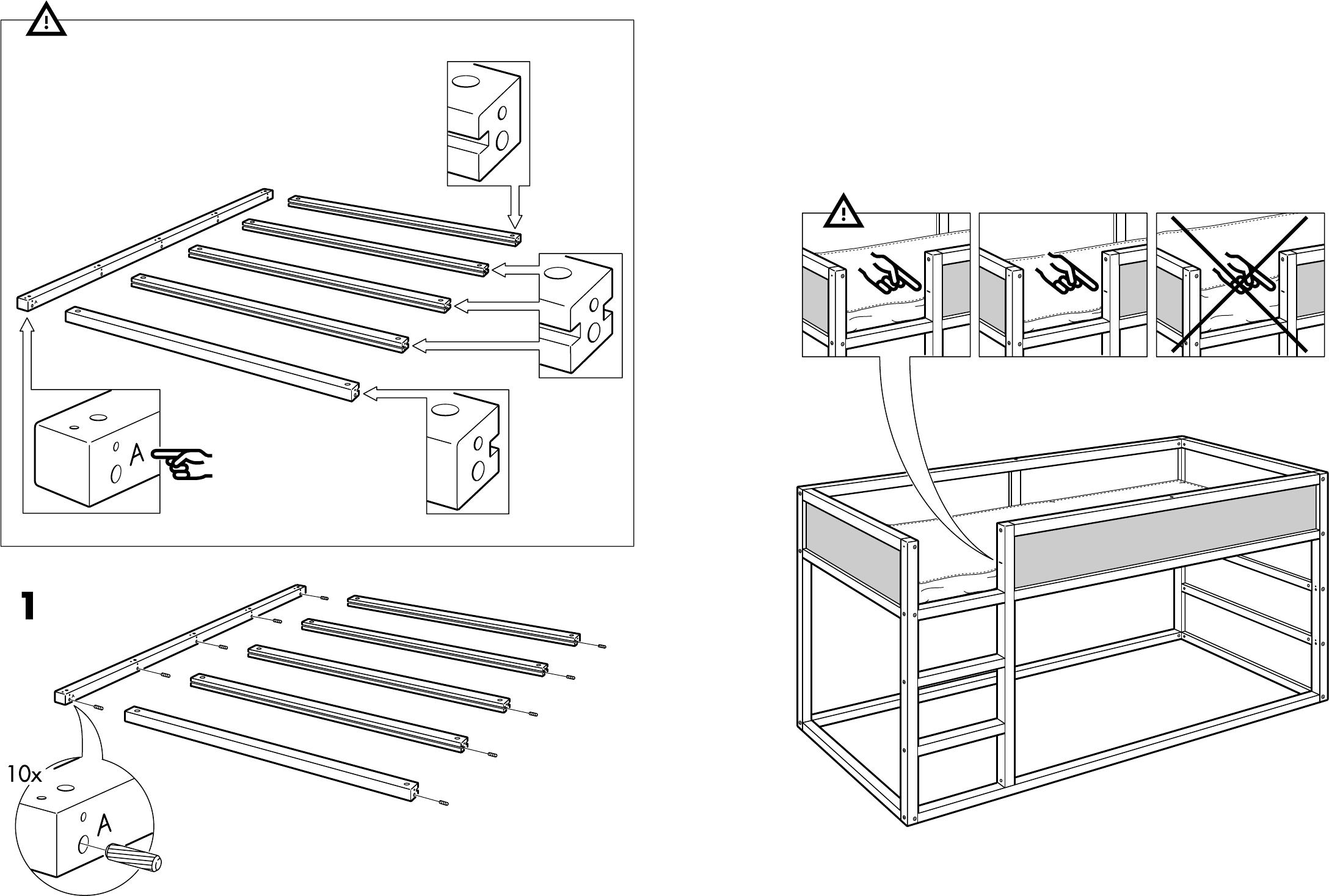Handleiding ikea kura bed pagina 4 van 14 dansk for Ikea besta instructions de montage
