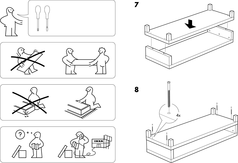 Handleiding Ikea Lack Tv Kast Pagina 1 Van 4 Dansk