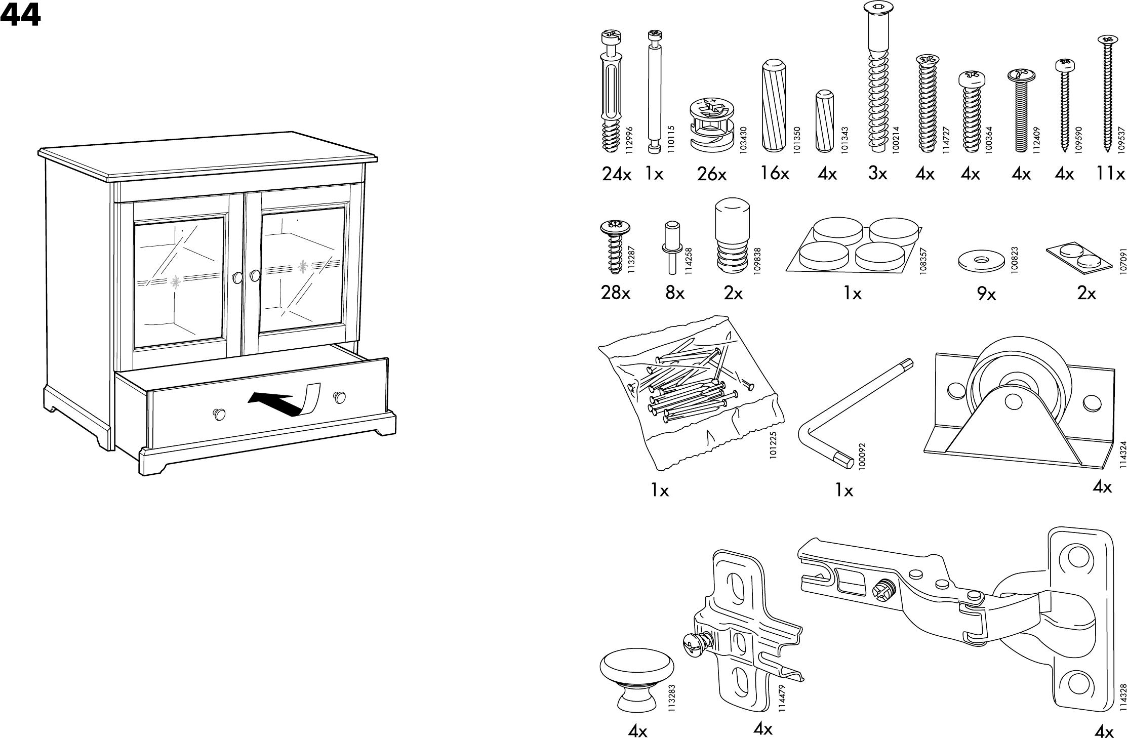 Handleiding Ikea Liatorp Kast Pagina 3 Van 14 Dansk