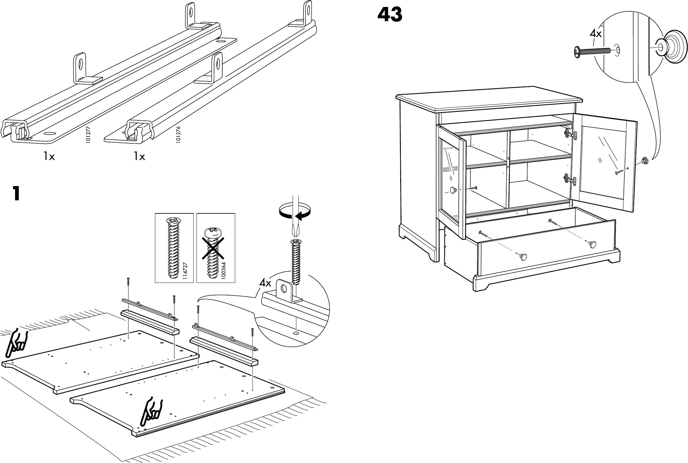Handleiding Ikea Liatorp Kast Pagina 4 Van 14 Dansk