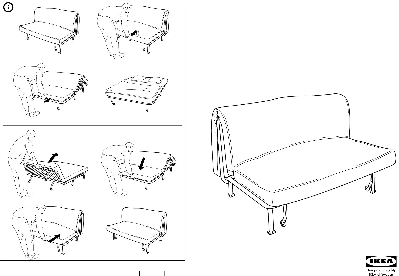 Lyksele Slaapbank Ikea.Handleiding Ikea Lycksele Onderstel Slaapbank Pagina 3 Van 6