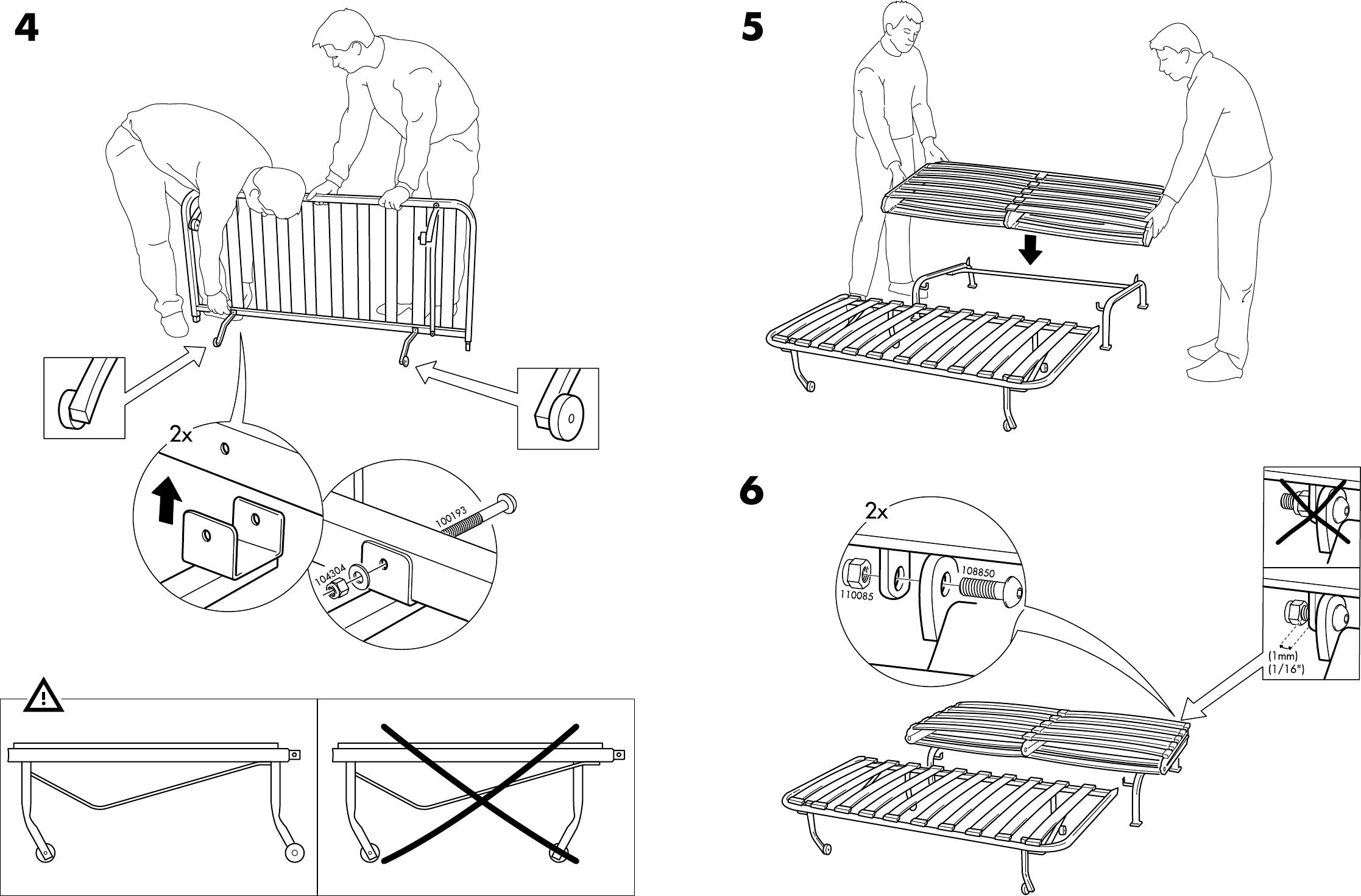 Lyksele Slaapbank Ikea.Handleiding Ikea Lycksele Onderstel Slaapbank Pagina 6 Van 6