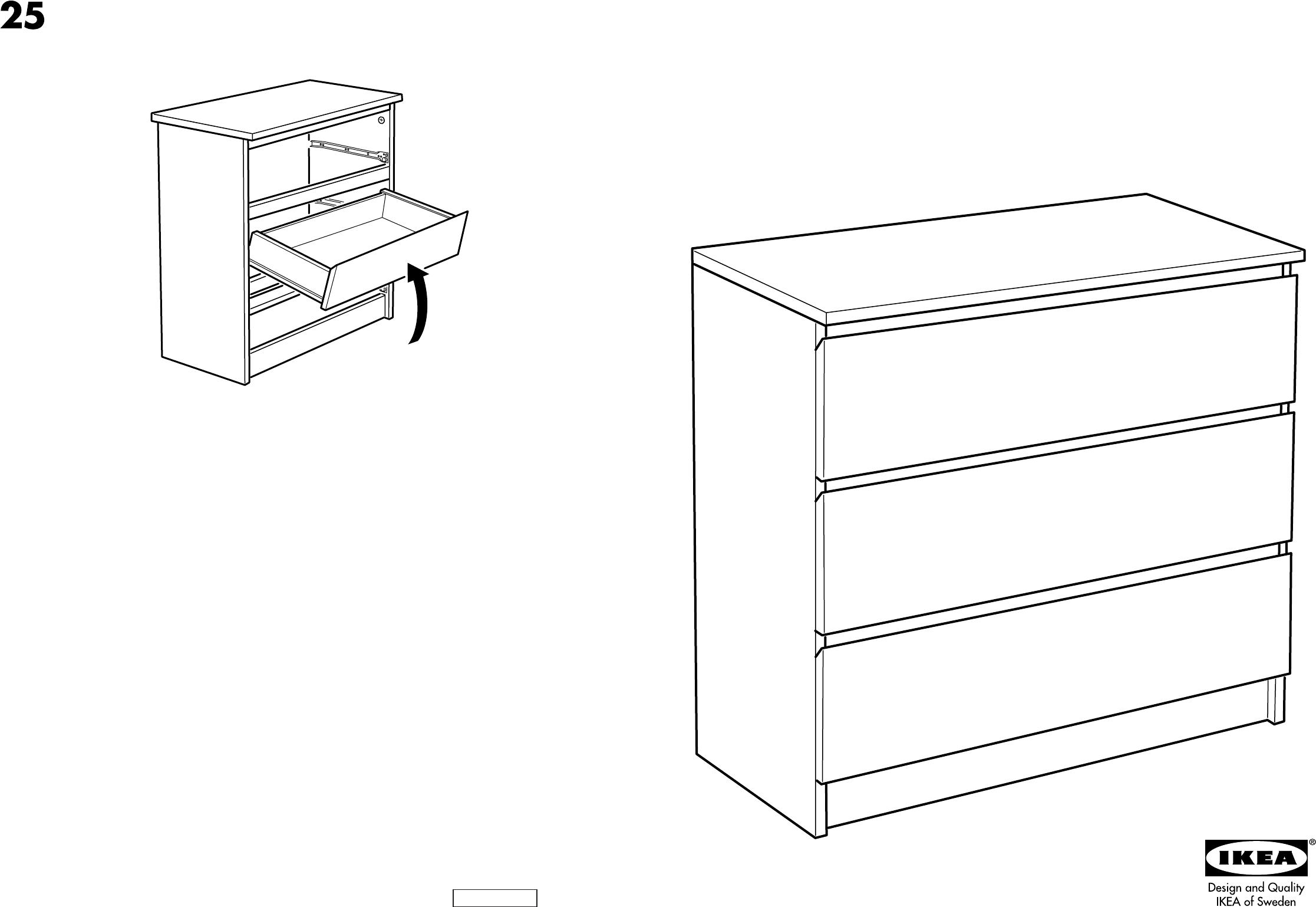 Ikea Malm Ladekast Handleiding.Handleiding Ikea Malm Ladekast 3 Pagina 1 Van 8 Dansk