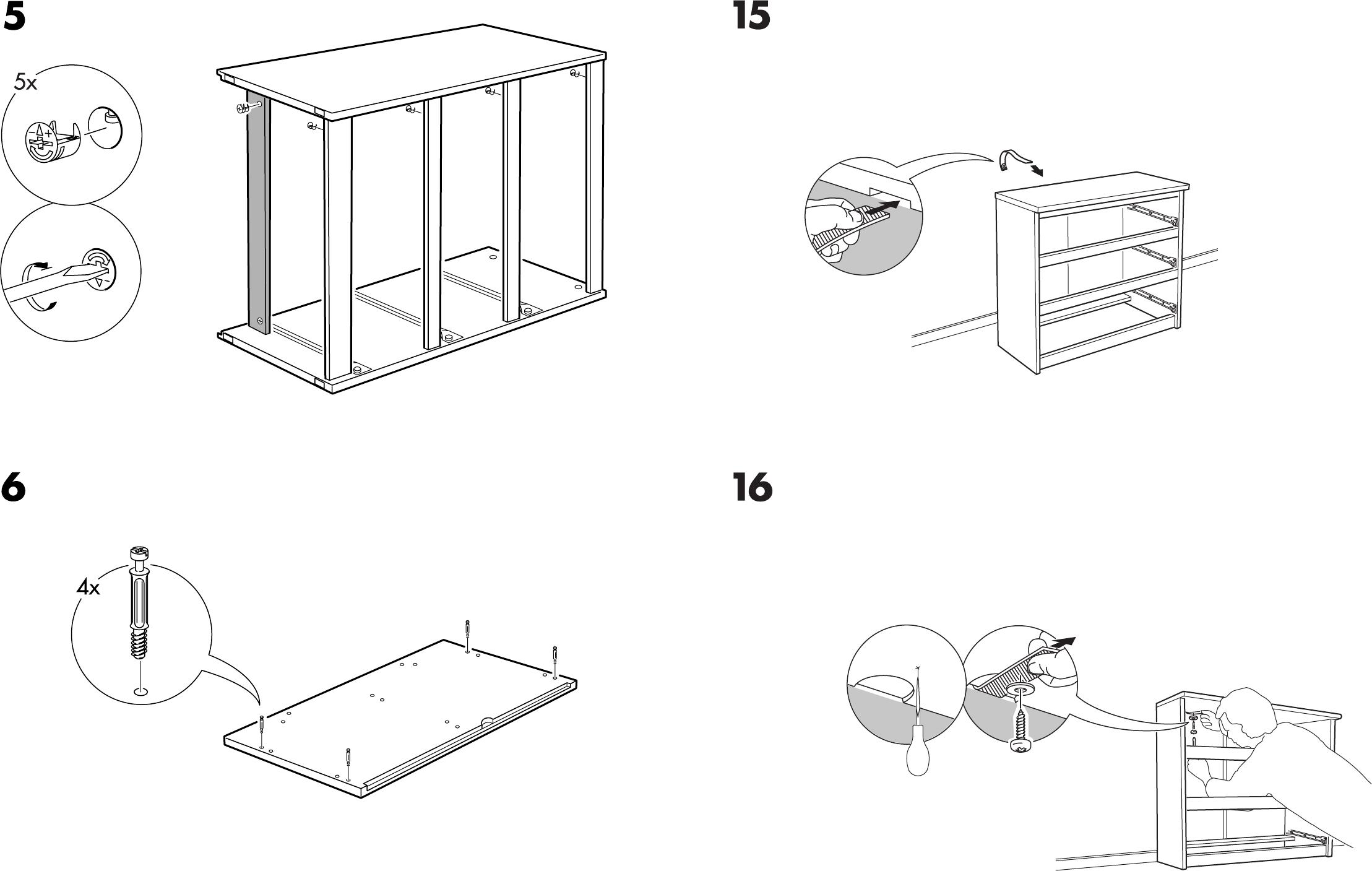 Ikea Malm Ladekast Handleiding.Handleiding Ikea Malm Ladekast 3 Pagina 6 Van 8 Dansk
