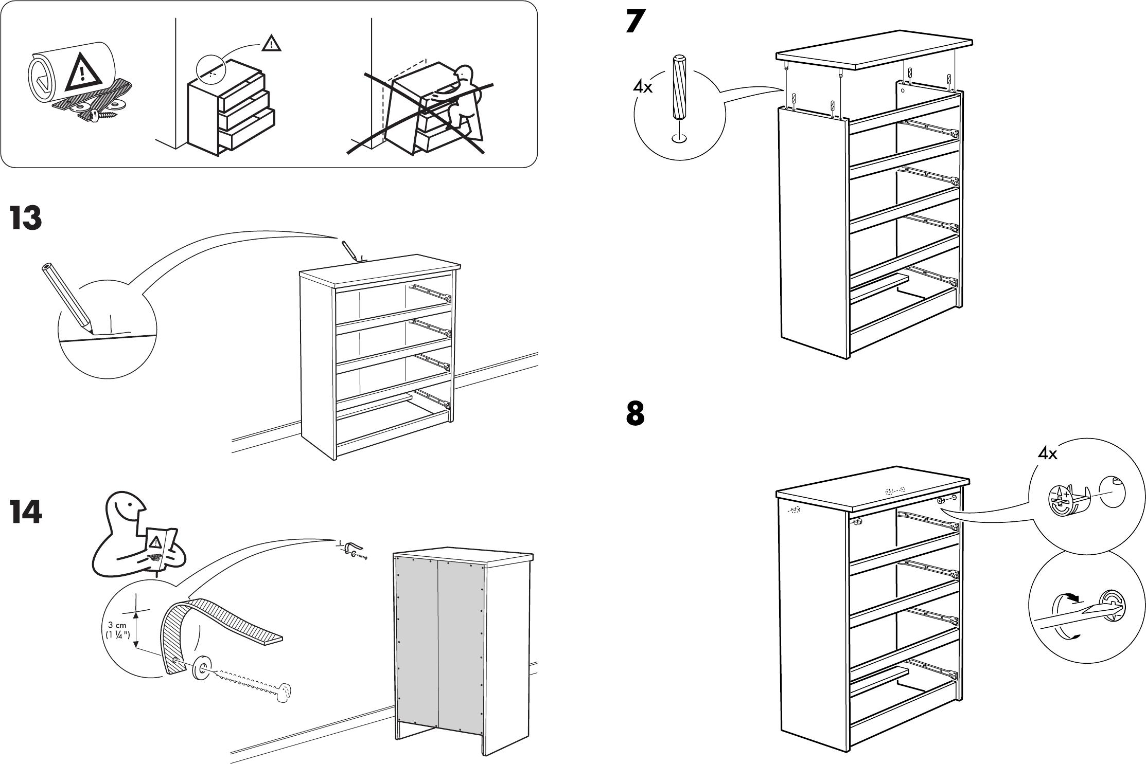 Ikea Malm Ladekast Handleiding.Handleiding Ikea Malm Ladekast 4 Pagina 7 Van 8 Dansk