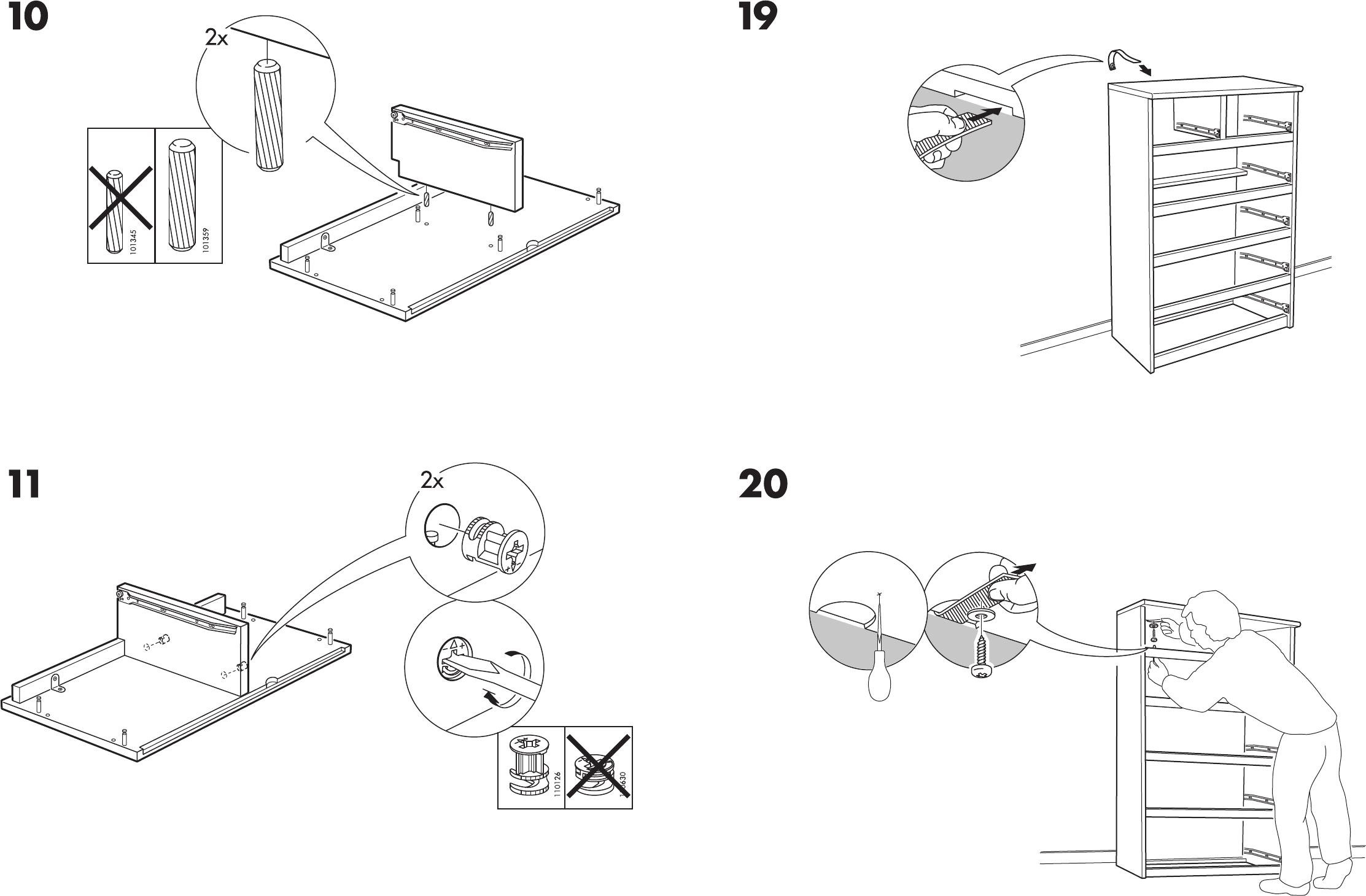 Ikea Malm Ladekast Handleiding.Handleiding Ikea Malm Ladekast 6 Pagina 1 Van 10 Dansk