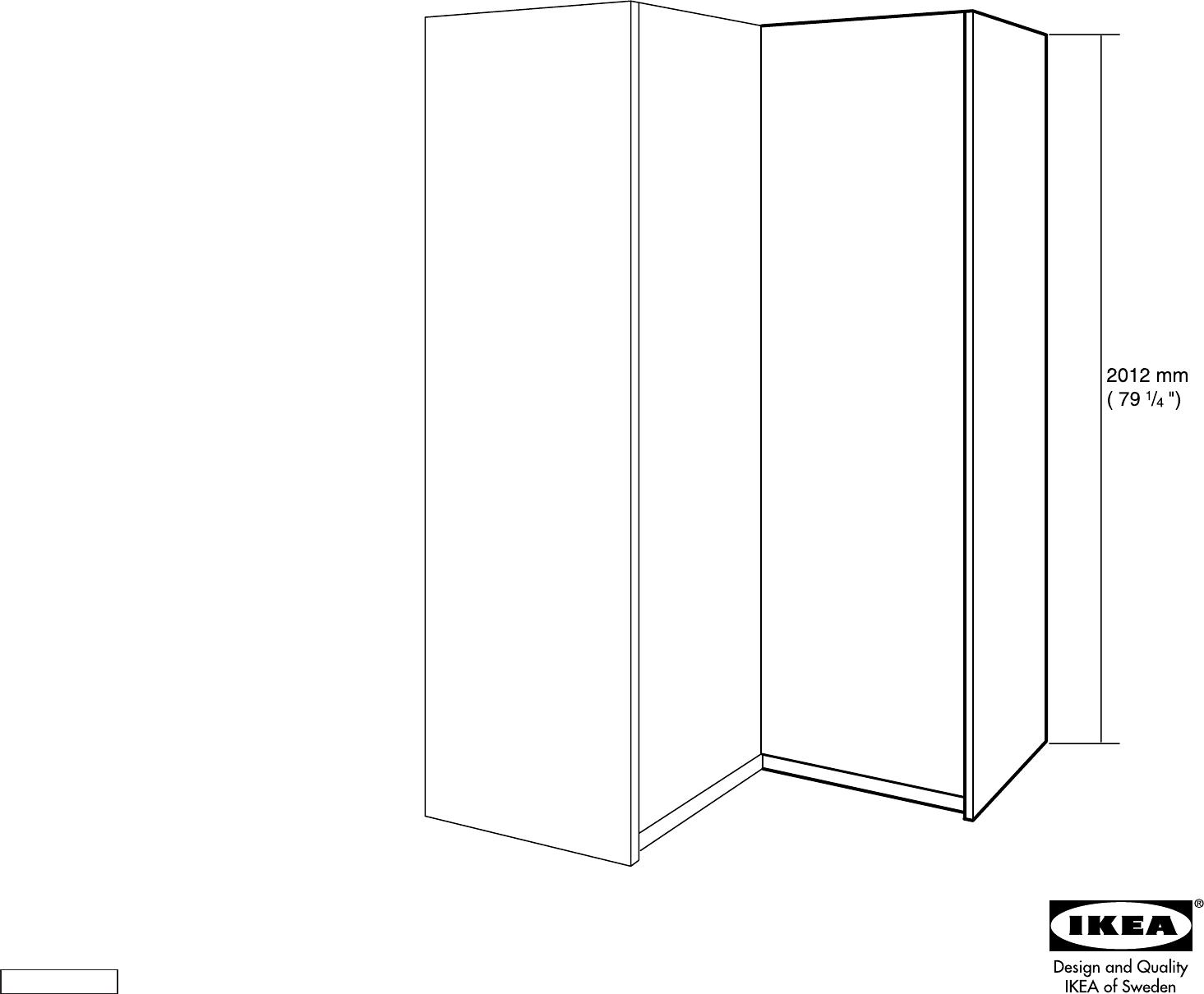 Handleiding Ikea Pax Hoekkast Pagina 1 Van 18 Dansk Deutsch