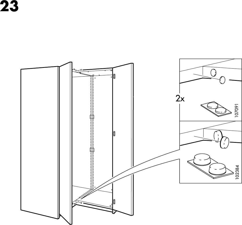Handleiding Ikea Pax hoekkast (pagina 18 van 18) (Dansk, Deutsch ...
