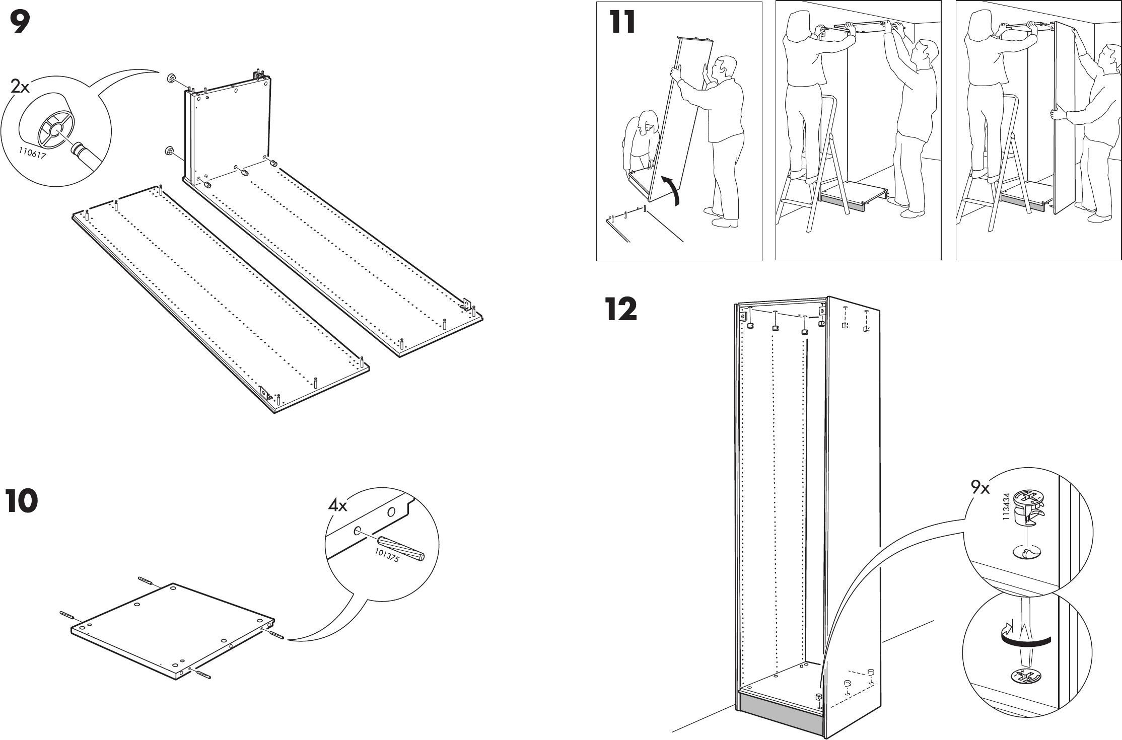 Handleiding Ikea Pax Garderobekast Pagina 12 Van 12 Dansk