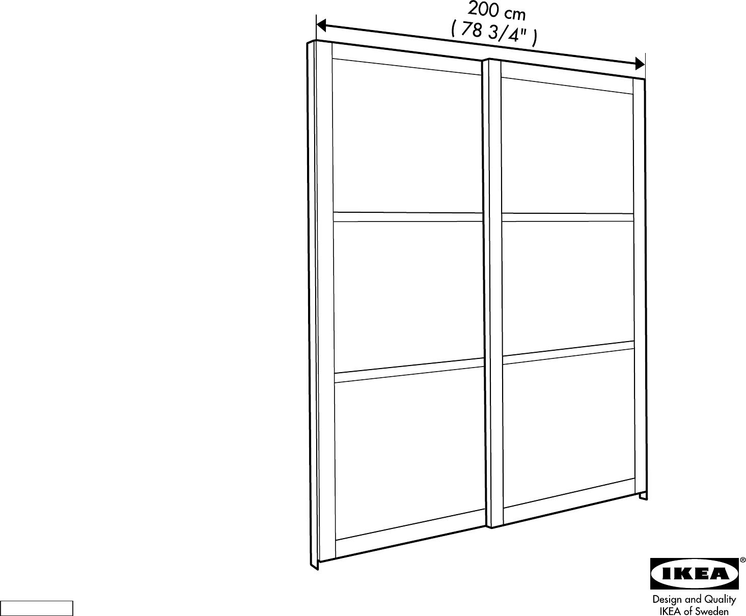 Schuifdeuren Ikea Pax.Handleiding Ikea Pax Hakadal Schuifdeuren Pagina 1 Van 12 Dansk