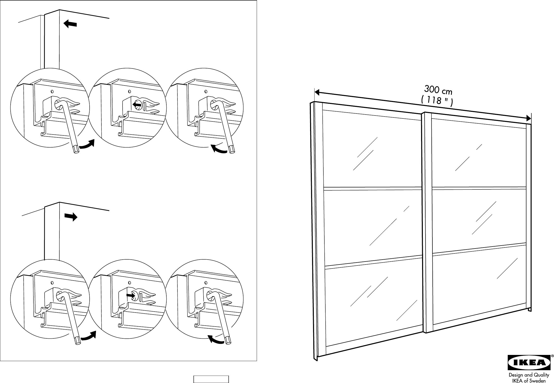 Schreibtisch Ikea Weiß Billig ~ Handleiding Ikea Pax stordal schuifdeuren (pagina 1 van 12) (Dansk