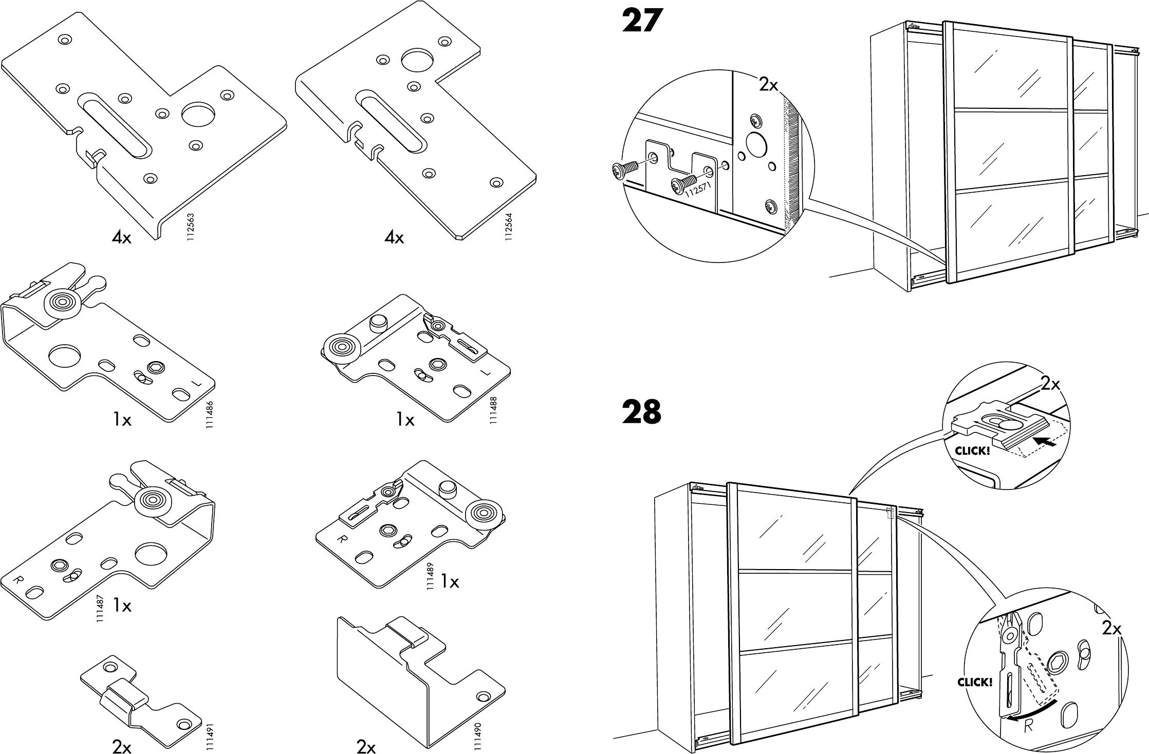 Handleiding Ikea Pax Stordal Schuifdeuren Pagina 1 Van 12