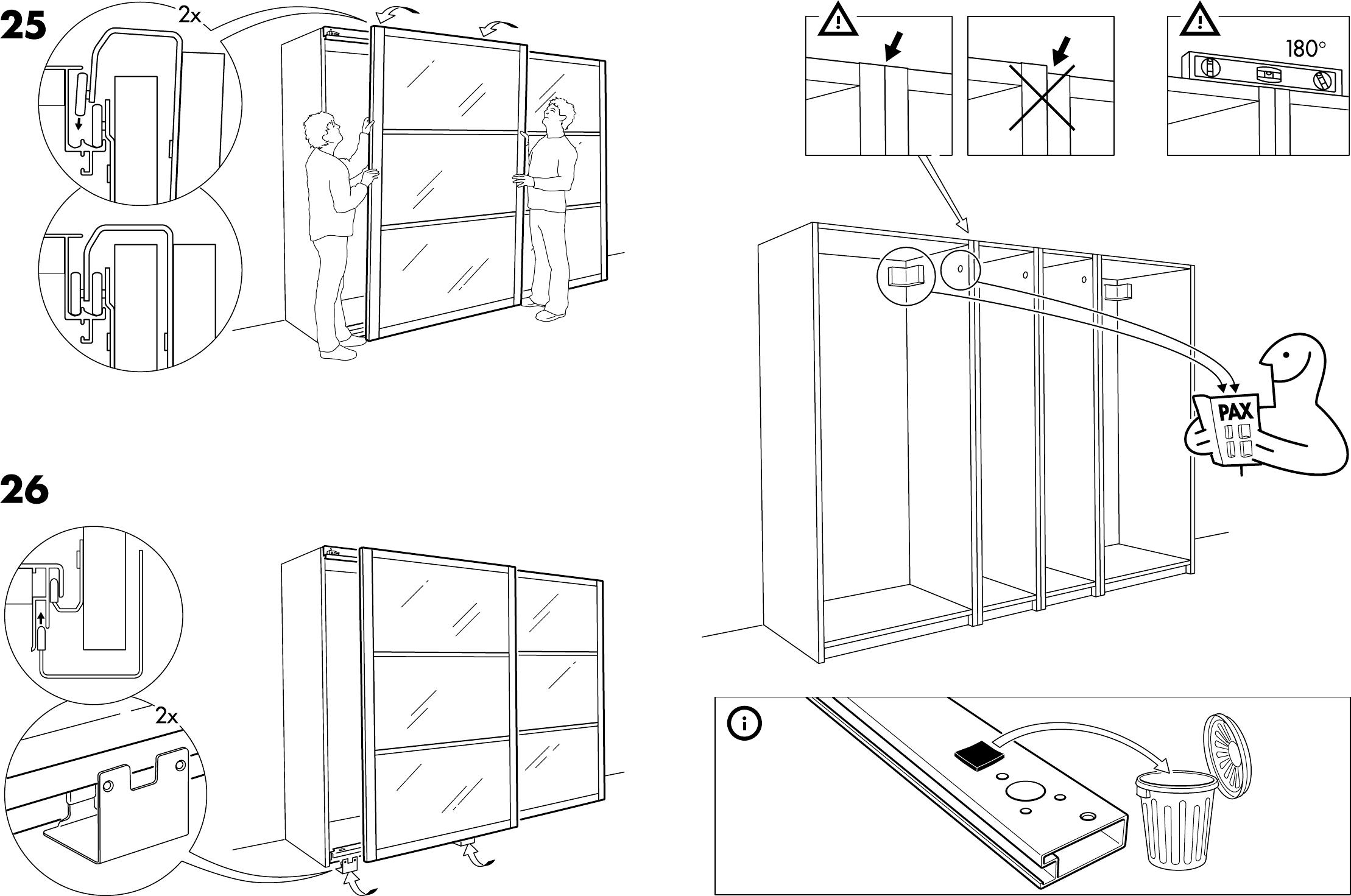 Grundtal Towel Stand From Ikea ~ Handleiding Ikea Pax stordal schuifdeuren (pagina 5 van 12) (Dansk