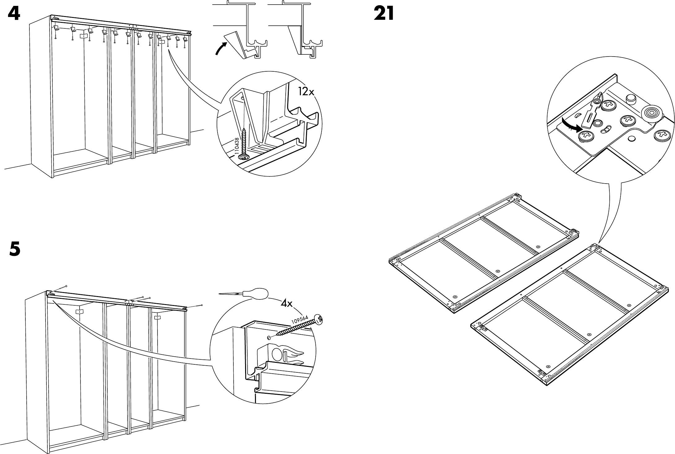 Pax Handleiding Schuifdeuren.Handleiding Ikea Pax Stordal Schuifdeuren Pagina 12 Van 12