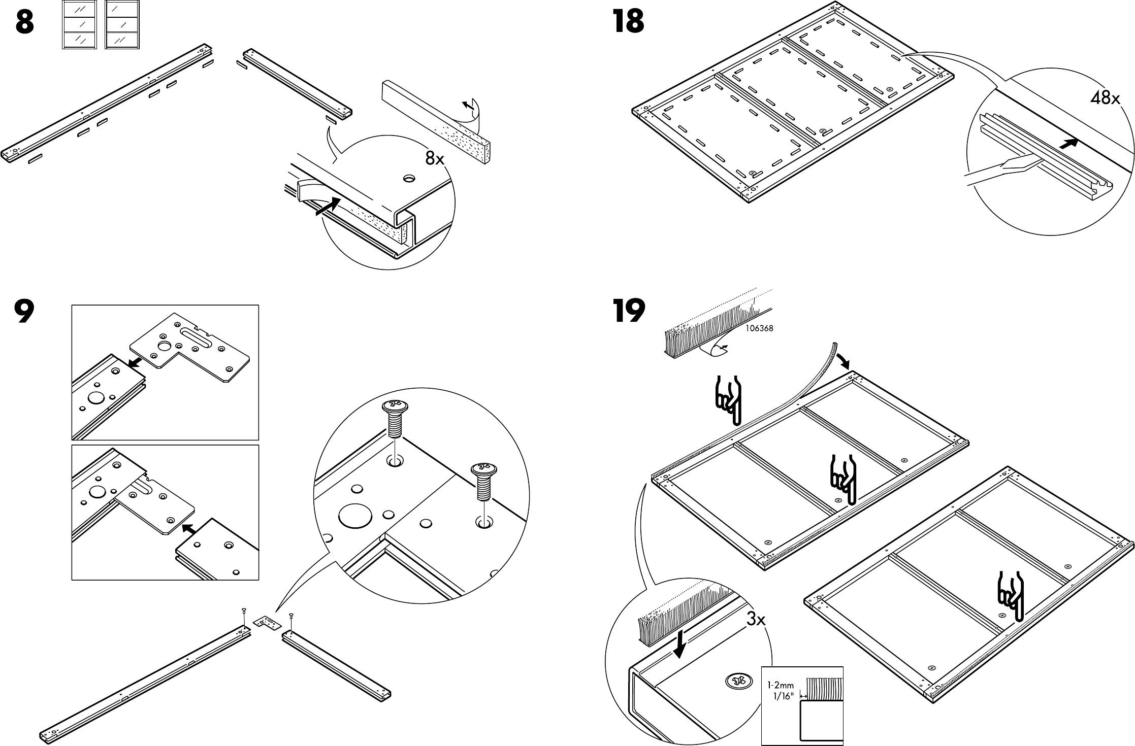 Pax Handleiding Schuifdeuren.Handleiding Ikea Pax Stordal Schuifdeuren Pagina 10 Van 12