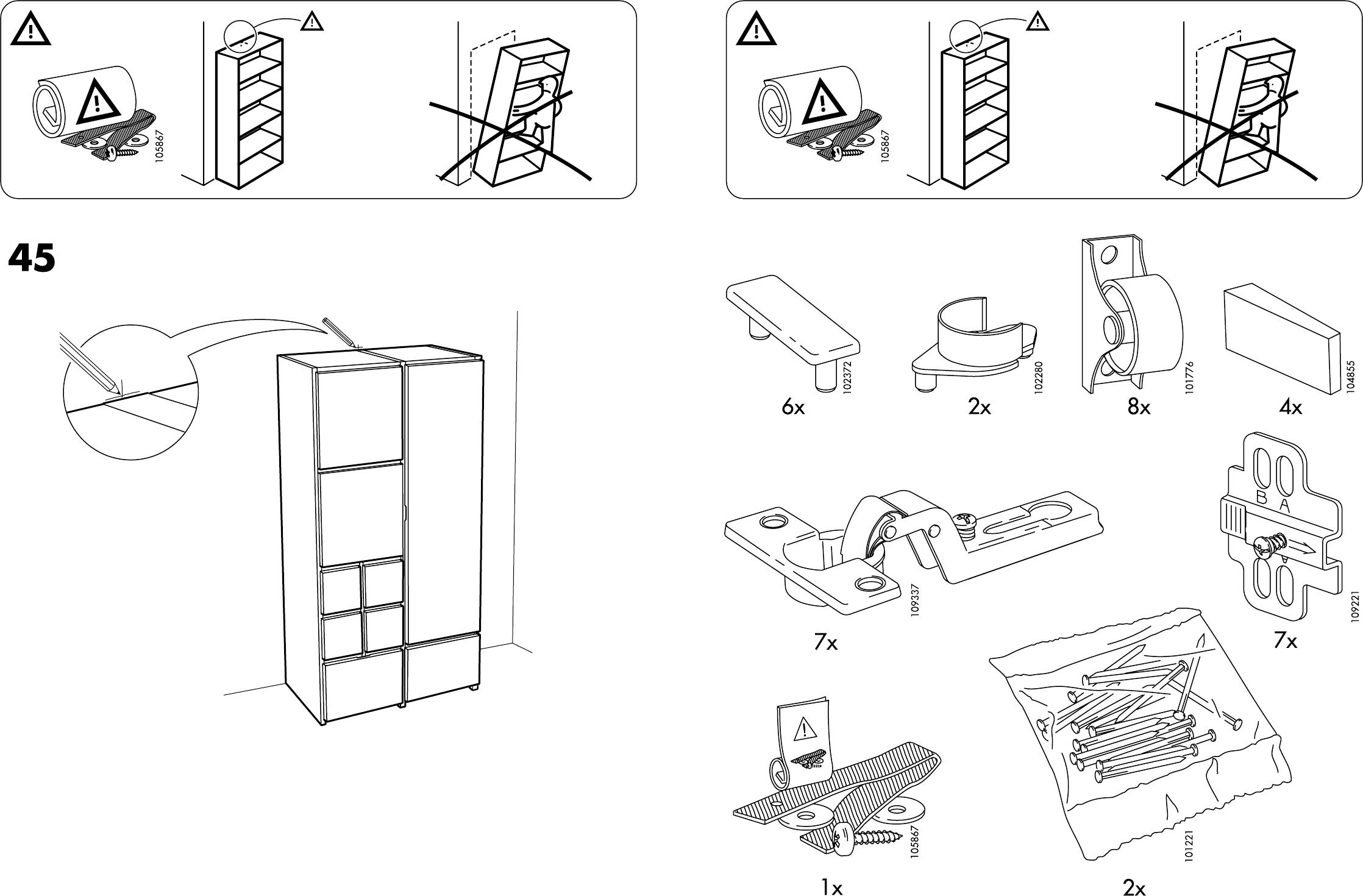 Ikea Ideas For Small Living Room ~ Handleiding Ikea Rakke kast (pagina 3 van 12) (Dansk, Deutsch, English