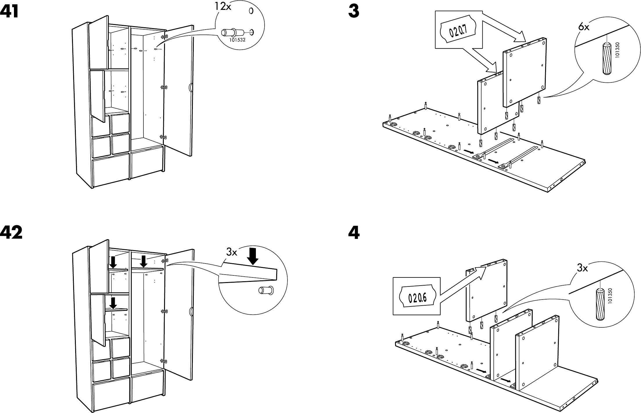 Ikea Ideas For Small Living Room ~ Handleiding Ikea Rakke kast (pagina 5 van 12) (Dansk, Deutsch, English
