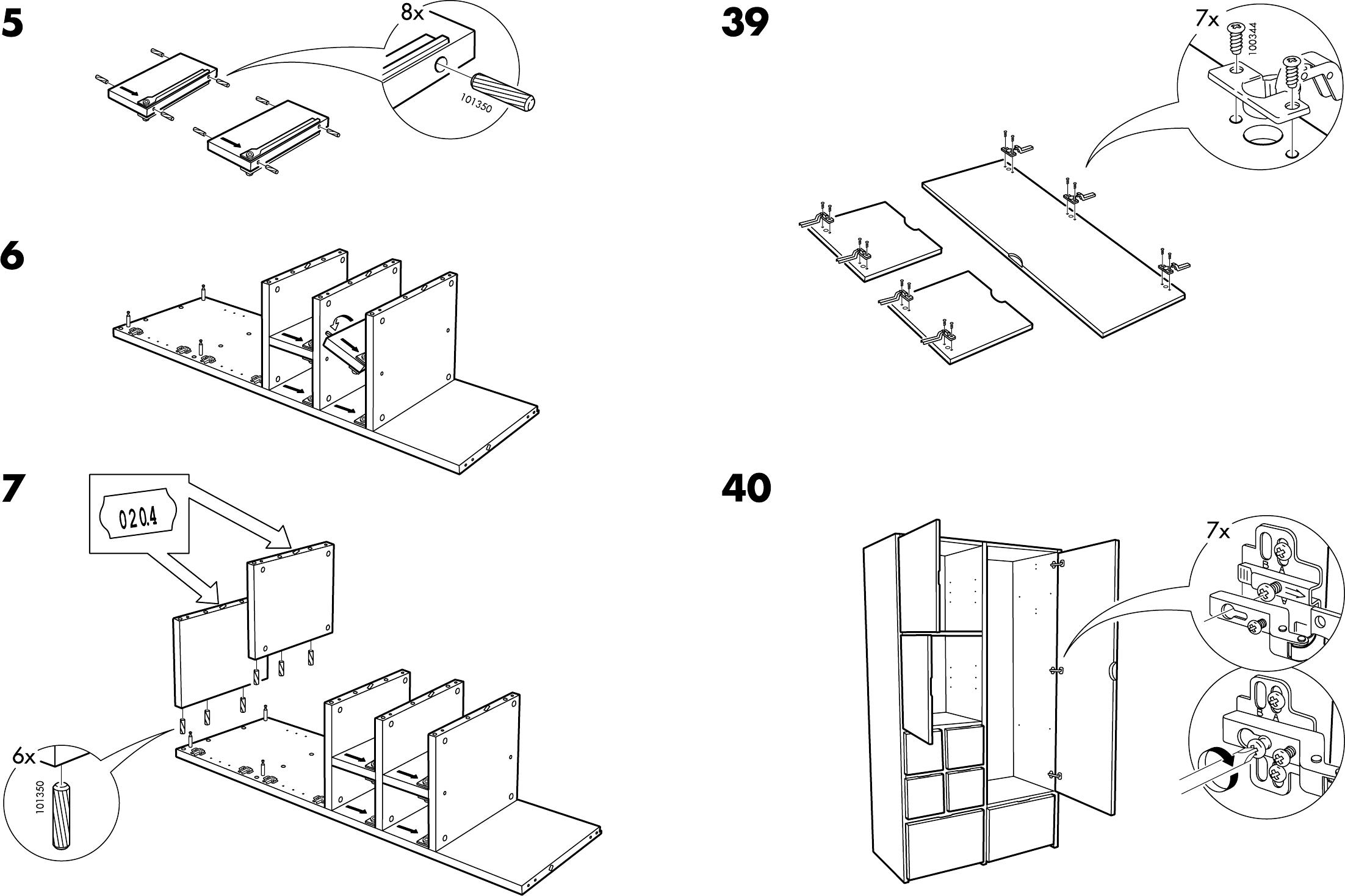 Expedit Ikea Kast Handleiding ~ Handleiding Ikea Rakke kast (pagina 6 van 12) (Dansk, Deutsch, English