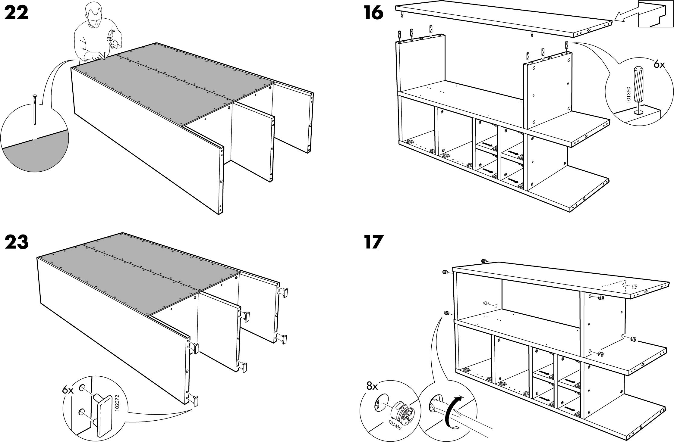 Schreibtisch Ikea Weiß Billig ~ Handleiding Ikea Rakke kast (pagina 11 van 12) (Dansk, Deutsch