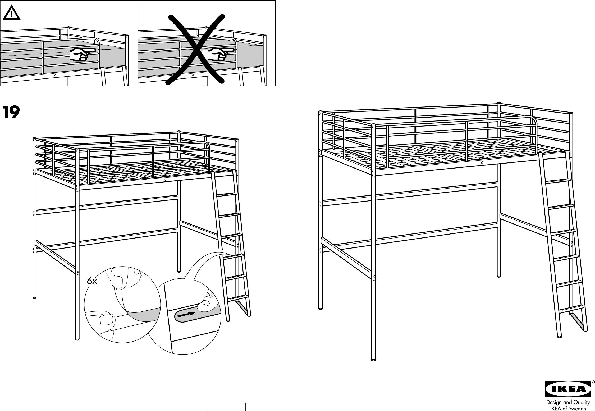 Ikea Vradal Halfhoogslaper.Handleiding Ikea Tromso Hoogslaper Pagina 1 Van 8 Dansk Deutsch