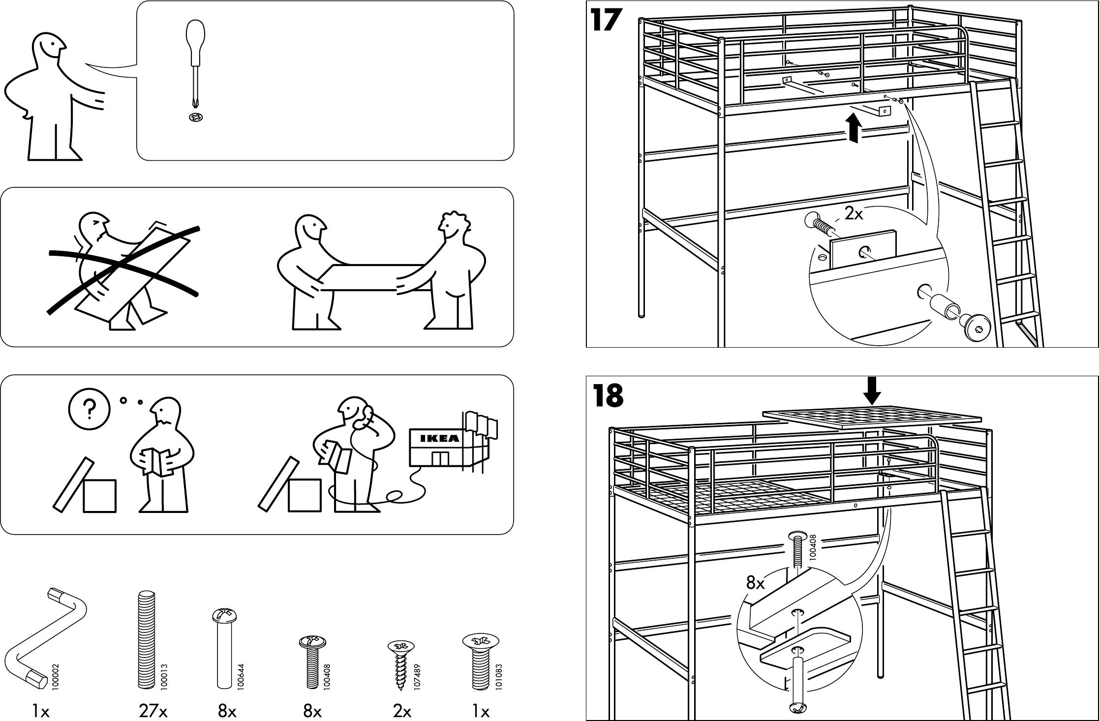 Welp Handleiding Ikea Tromso hoogslaper (pagina 1 van 8) (Dansk PF-25