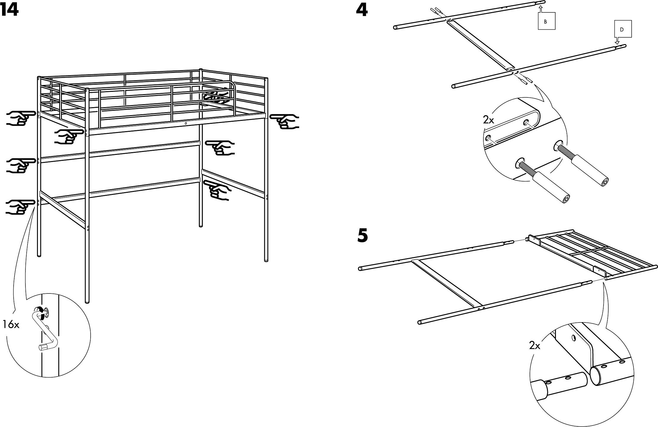 Handleiding Ikea Tromso Hoogslaper Pagina 5 Van 8 Dansk