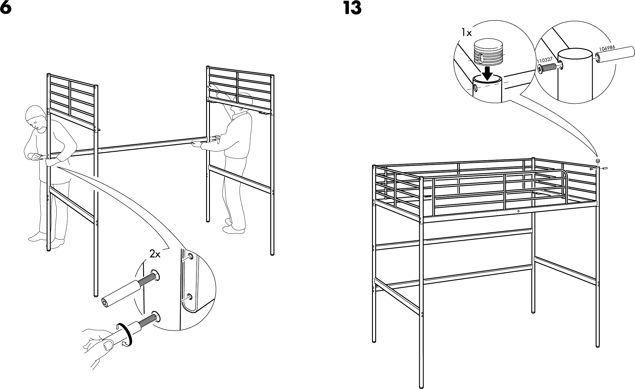Verrassend Handleiding Ikea Tromso hoogslaper (pagina 7 van 8) (Dansk PP-42