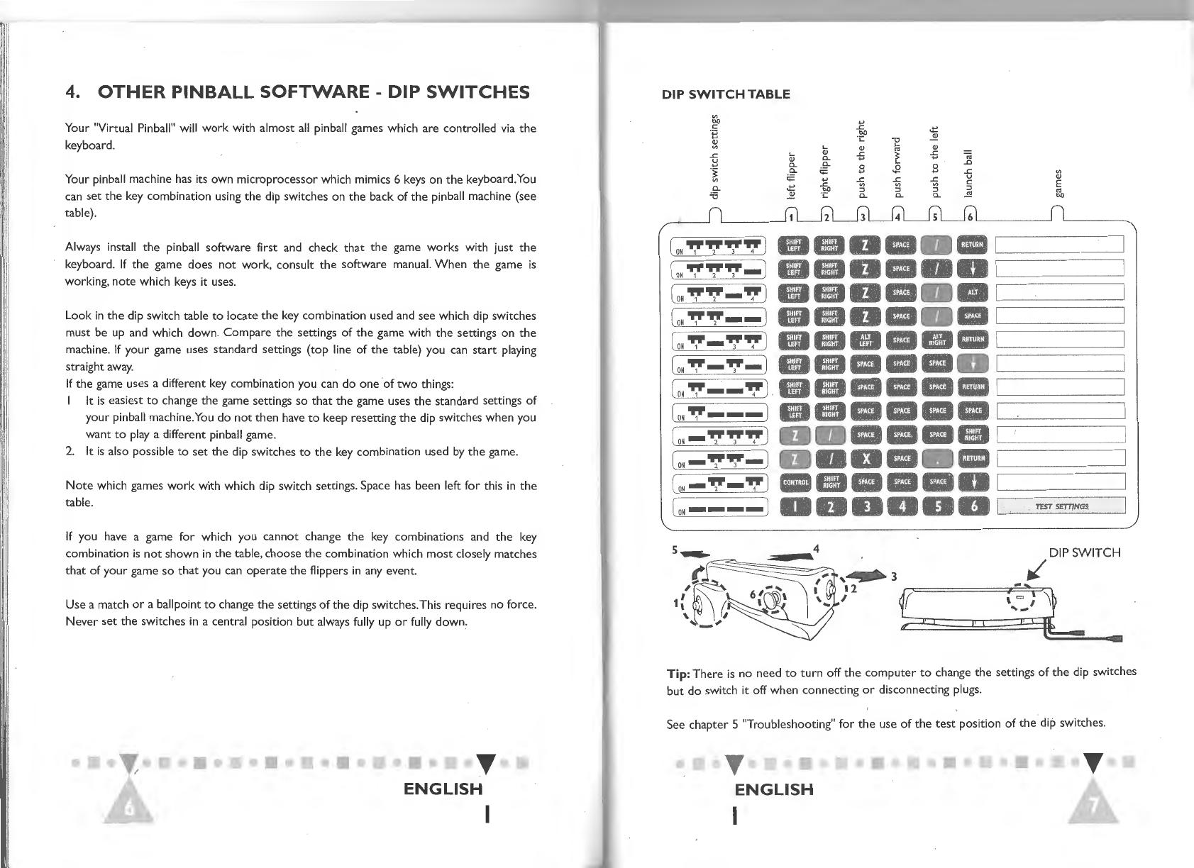 Handleiding Philips Virtual Pinball (pagina 5 van 18) (English)