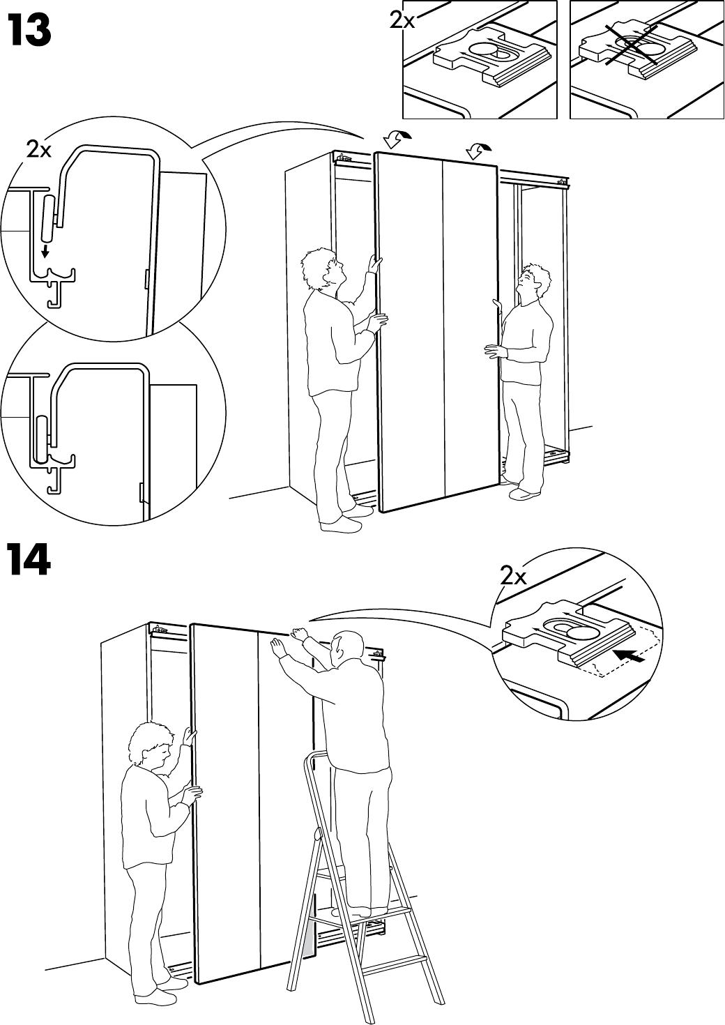 Ikea Schuifdeuren Monteren.Hasvik Schuifdeur Simple Vintage Retro Dressoir With Hasvik