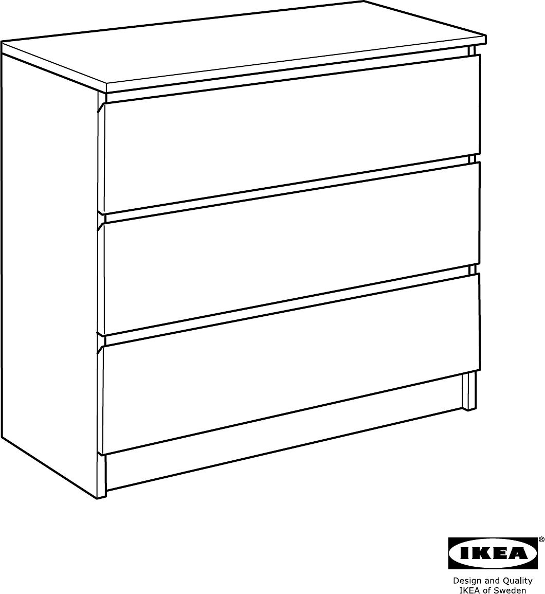 Ikea Malm Ladekast Handleiding.Handleiding Ikea Malm Ladekast 3 Lades Pagina 18 Van 20