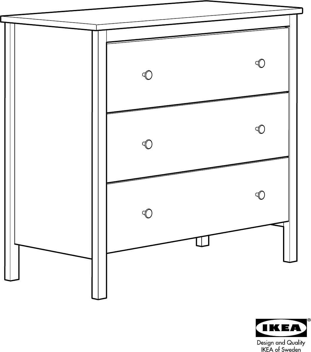 Handleiding Ikea Koppang Ladekast 3 Lades Pagina 1 Van 16