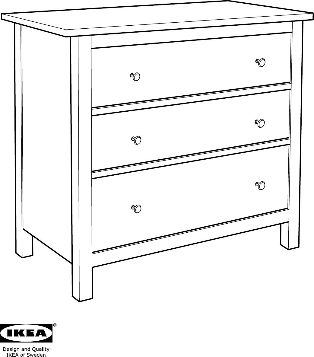 Handleiding Ikea Hemnes Ladekast 3 Lades Pagina 2 Van 20