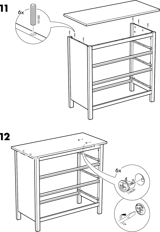 Hemnes Ladekast 3 Laden.Handleiding Ikea Hemnes Ladekast 3 Lades Pagina 13 Van 20