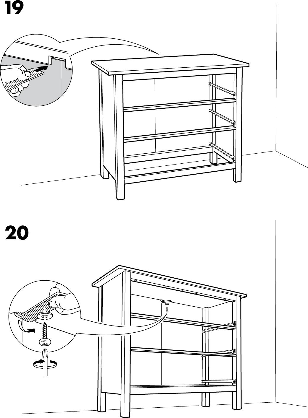 Hemnes Ladekast 3 Laden.Handleiding Ikea Hemnes Ladekast 3 Lades Pagina 17 Van 20