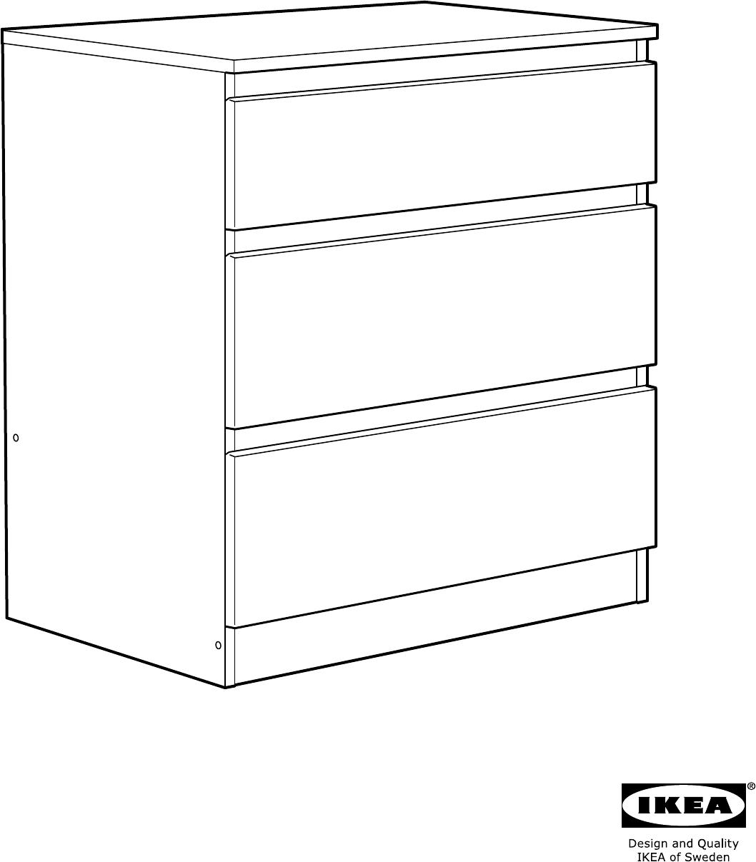 Ikea Kullen Garderobekast.Handleiding Ikea Kullen Ladekast 3 Lades Pagina 2 Van 20