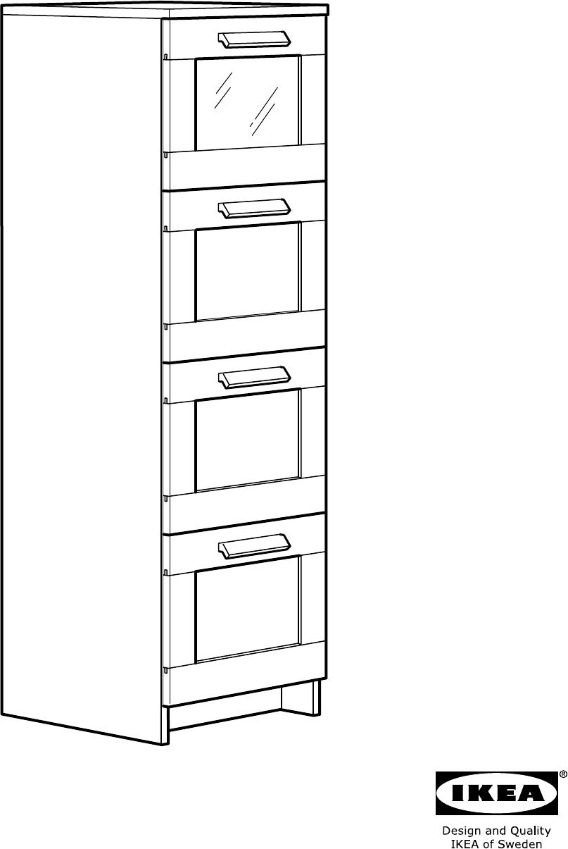 Ladekast Ikea Zwart.Handleiding Ikea Brimnes Ladekast Met 4 Lades Pagina 2 Van