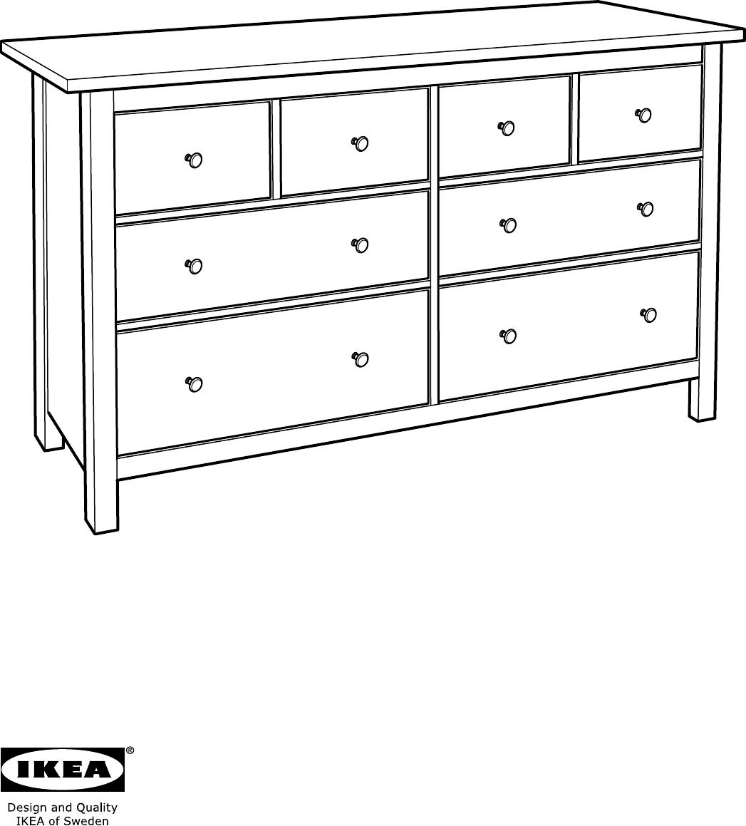 Handleiding Ikea Hemnes Ladekast 8 Lades Pagina 1 Van 32
