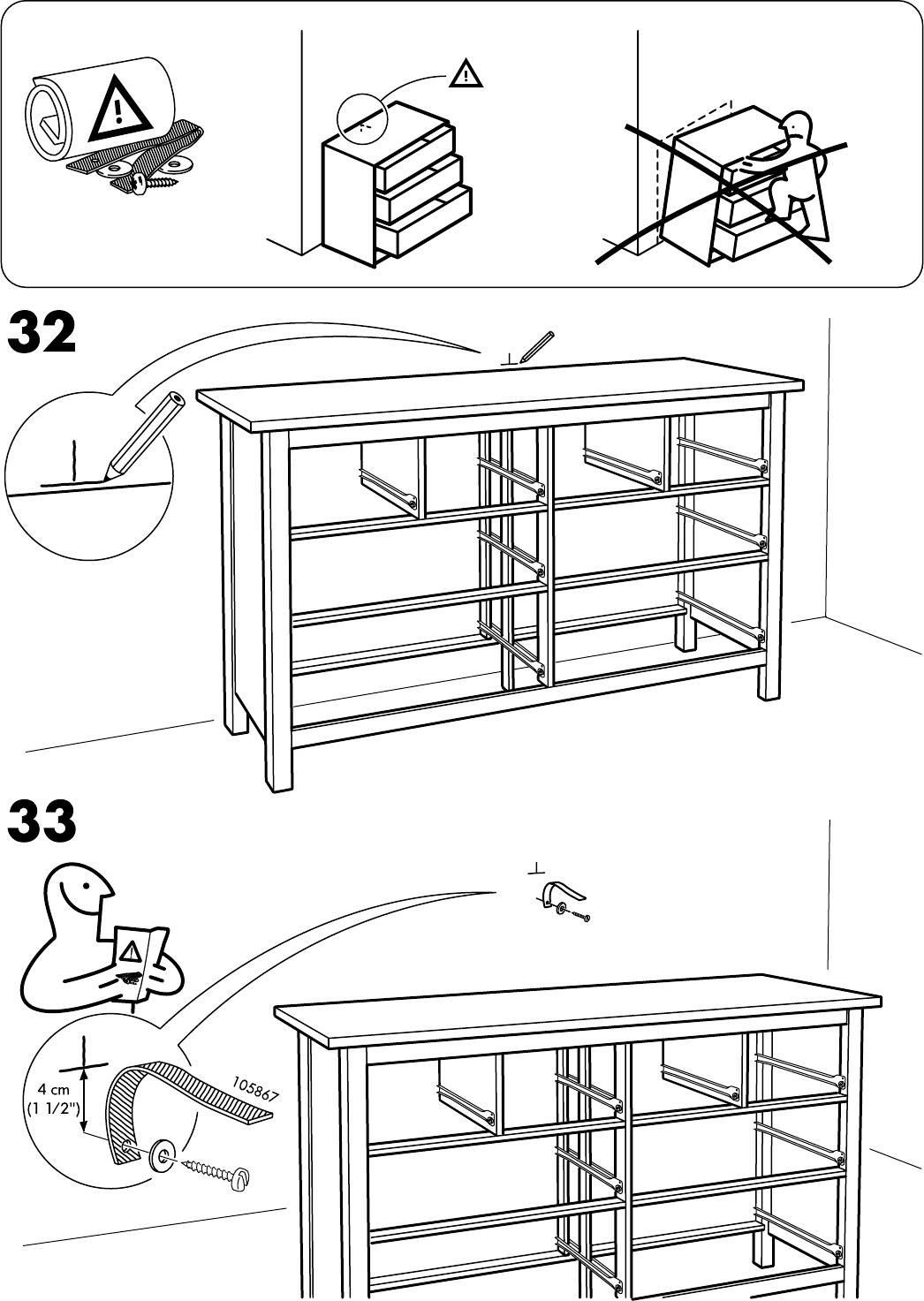 Hemnes Ladekast 8.Handleiding Ikea Hemnes Ladekast 8 Lades Pagina 26 Van 32 Dansk