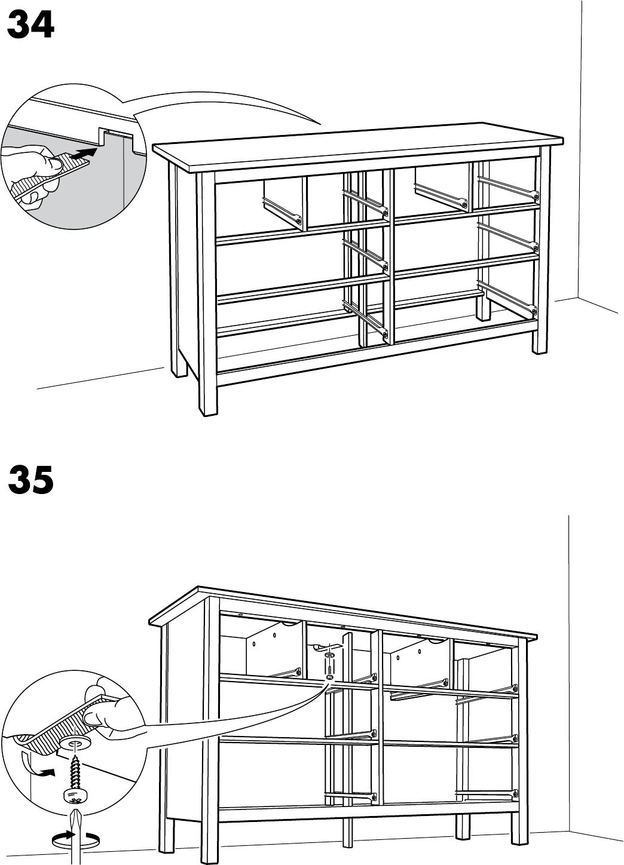 Ladekast 8 Lades.Handleiding Ikea Hemnes Ladekast 8 Lades Pagina 27 Van 32 Dansk