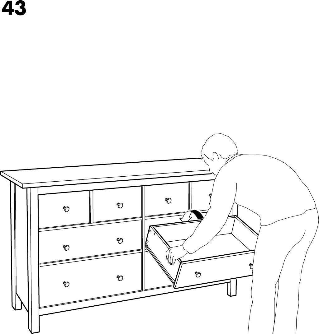 Hemnes Ladekast 8.Handleiding Ikea Hemnes Ladekast 8 Lades Pagina 32 Van 32 Dansk