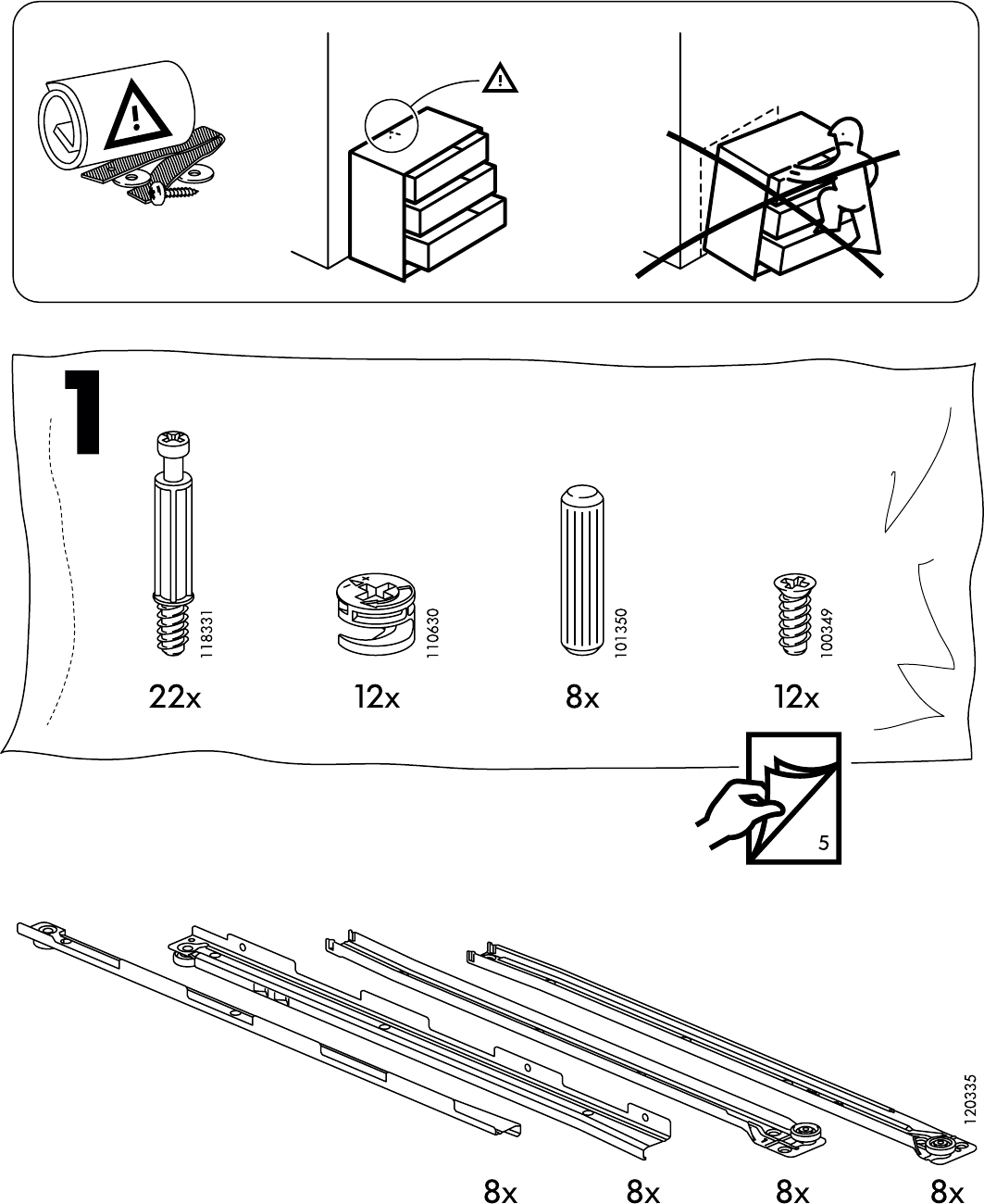Ladekast 8 Lades.Handleiding Ikea Hemnes Ladekast 8 Lades Pagina 3 Van 32 Dansk