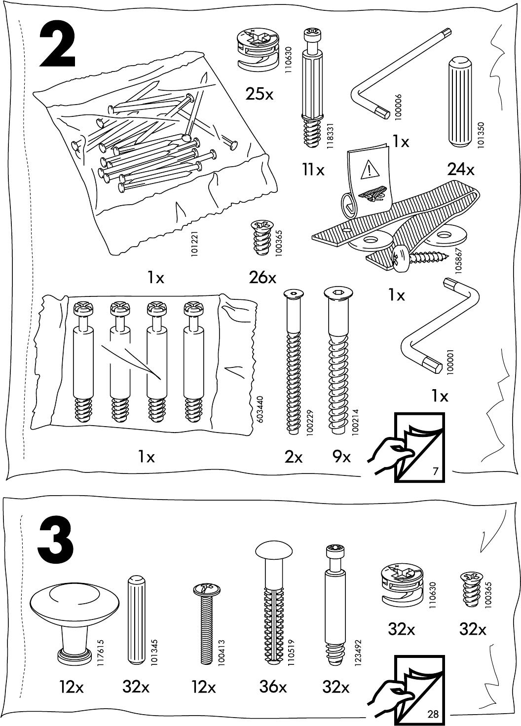 Ladekast 8 Lades.Handleiding Ikea Hemnes Ladekast 8 Lades Pagina 4 Van 32 Dansk
