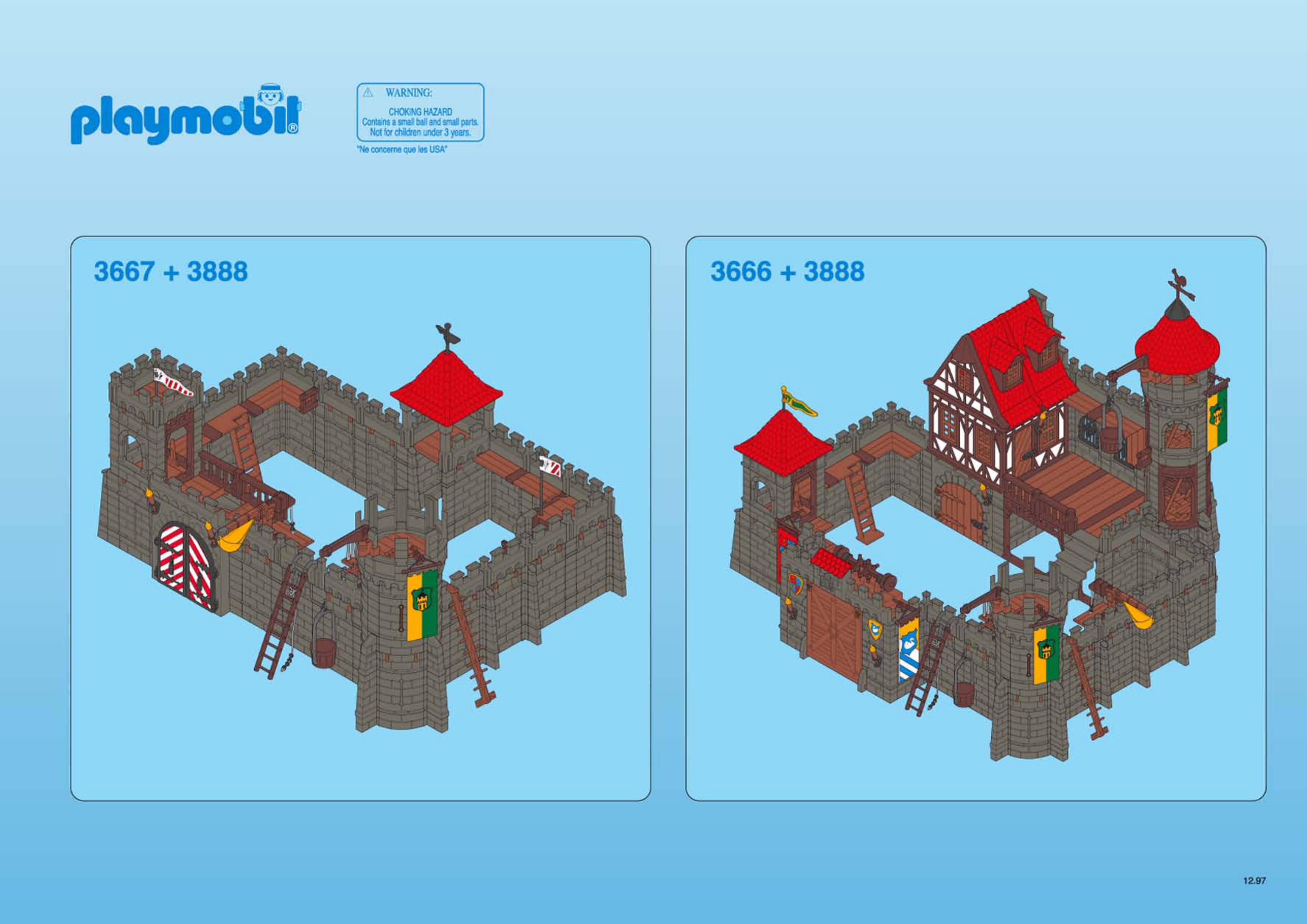 playmobil castle instructions 3268