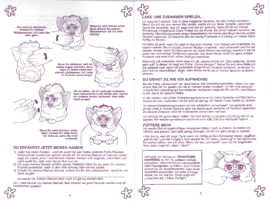 furby boom instruction booklet
