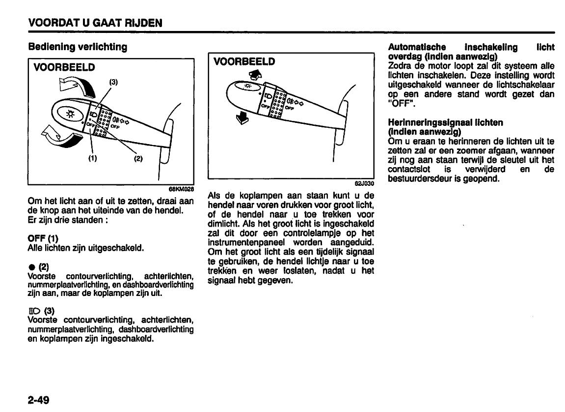 Handleiding suzuki alto pagina 61 van 210 nederlands - Zits verwarming ...