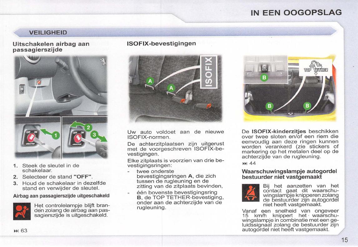 Handleiding peugeot 107 pagina 17 van 102 nederlands - Zits verwarming ...