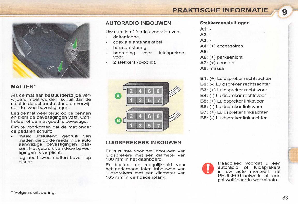 Handleiding Peugeot 107 (pagina 84 van 102) (Nederlands)
