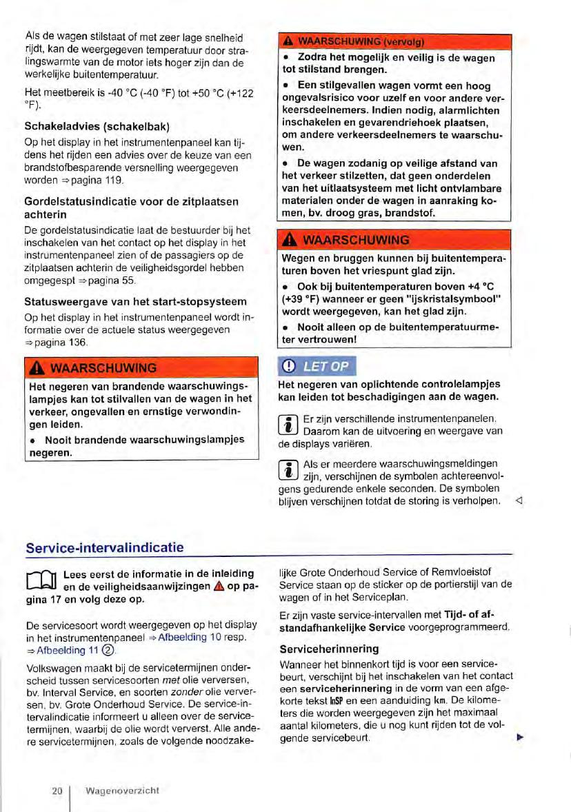 Handleiding Volkswagen Up Pagina 20 Van 272 Nederlands